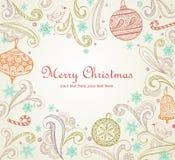 Ornate Christmas frame Royalty Free Stock Image
