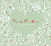 Ornate Christmas frame Royalty Free Stock Images