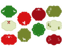 Ornate Christmas Frames Royalty Free Stock Photo