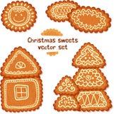 Ornate Christmas sweets vector set Stock Image