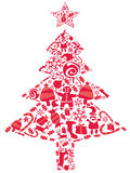 Ornate christmas tree Royalty Free Stock Photos