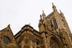 Ornate Church. The ornate and heritage listed Cathedral Church of St Francis Xavier. Adelaide, South Australia Royalty Free Stock Photo