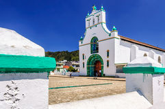 Ornate church, Chamula, Mexico royalty free stock images