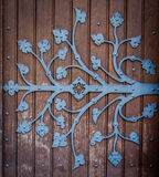 Ornate Church Door Hinge Stock Photo