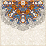 Ornate circle floral card announcement Royalty Free Stock Photos