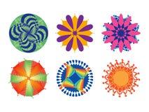Ornate circular patterns Stock Images