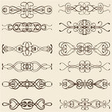 Ornate classic divide lines Stock Image