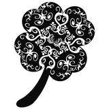 Ornate clover leaf Royalty Free Stock Photo