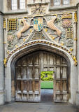Ornate College Gate Royalty Free Stock Photography