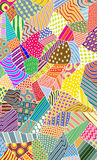 Ornate colorful pattern Stock Photography
