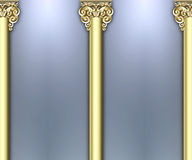 Ornate column background Stock Photo