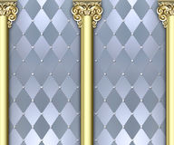 Ornate column background Stock Photos
