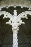 Ornate column on monastery in Portugal. Stock Photos