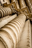 Ornate  Column Pillars Stock Photo