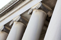 Ornate columns and building trim Royalty Free Stock Image