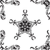 Ornate coners Royalty Free Stock Images