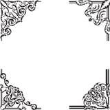 Ornate corner set royalty free illustration