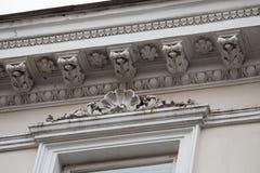 Ornate cornice in Vilnius Royalty Free Stock Image