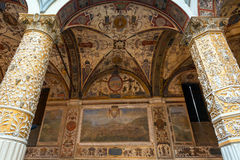 Ornate courtyard in the Palazzo Vecchio in Florence Stock Images