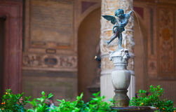 Ornate courtyard of Renaissance. Florence. Stock Photo