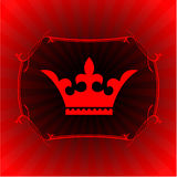 Ornate crown on glowing background Royalty Free Stock Images
