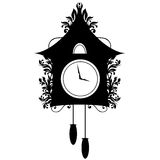 Ornate Cuckoo Clock Silhouette Royalty Free Stock Photo