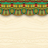 Ornate Curtain And Ethnic Ornament Background Stock Photos