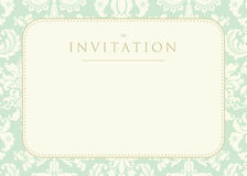 Ornate damask background. Invitation to the wedding or announcements Royalty Free Stock Photos