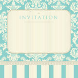 Ornate damask background. Invitation to the wedding or announcements Stock Images