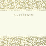 Ornate damask background. Invitation to the wedding or announcements Stock Photos