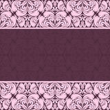 Ornate damask Background for invitation design Royalty Free Stock Photography