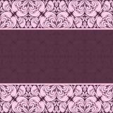 Ornate damask Background for invitation design Royalty Free Stock Photography