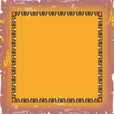 Ornate damask background in yellow color Royalty Free Stock Photos