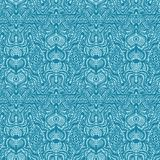 Ornate floral damask seamless pattern. All over print symmetry vector background. Summer boho feminine fashion style. Elegant. Ornate damask seamless pattern stock illustration