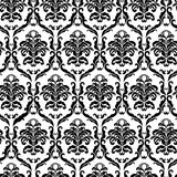 Ornate damask tile vector illustration