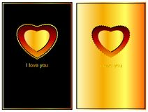 Ornate decorated Valentines with the paper heart. (Vector) Stock Photography