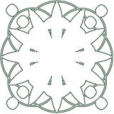 Ornate decoration - 0023. Ornate Circle with Scroll Designs - 0023 stock illustration