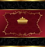 Ornate decorative background with crown Stock Photo