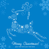 Ornate decorative Christmas deer card Royalty Free Stock Images