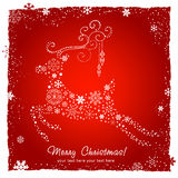 Ornate decorative Christmas deer card Royalty Free Stock Photos