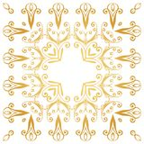 Ornate decorative frame in Victorian style Stock Photos