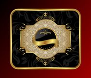 Ornate decorative golden frame Stock Photography