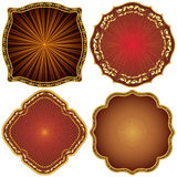 Ornate decorative golden  frames. Royalty Free Stock Image