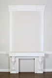 Ornate decorative plaster moldings in studio Royalty Free Stock Photo