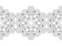 Ornate decorative snowflake on a white background. Flat linear silhouette, lace Stock Images