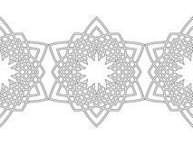 Ornate decorative snowflake on a white background. Flat linear silhouette, lace Royalty Free Stock Images