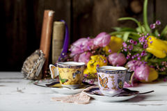 Ornate Demitasse Cups Royalty Free Stock Images