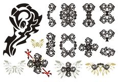 Ornate design elements Stock Photos