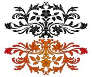 Ornate design elements with flowers Stock Photography