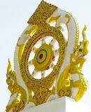 Ornate Design on a Temple Gate Post. Stock Photography